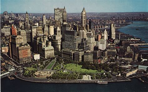 color house nyc color aerial postcard views of manhattan s skyline in the