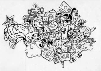 doodle mudah 7 cara membuat doodle name huruf simpel contoh