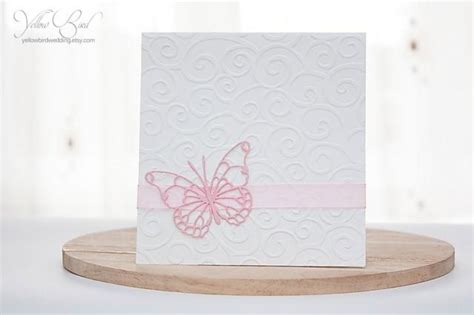 pink butterfly wedding invitations pink butterfly invitation card embossed invitation christening butterfly invitation