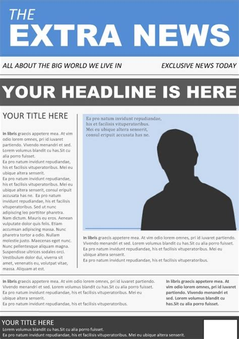 Newspaper Front Page Birthday Card Template by Newspaper Front Page Template Free Business