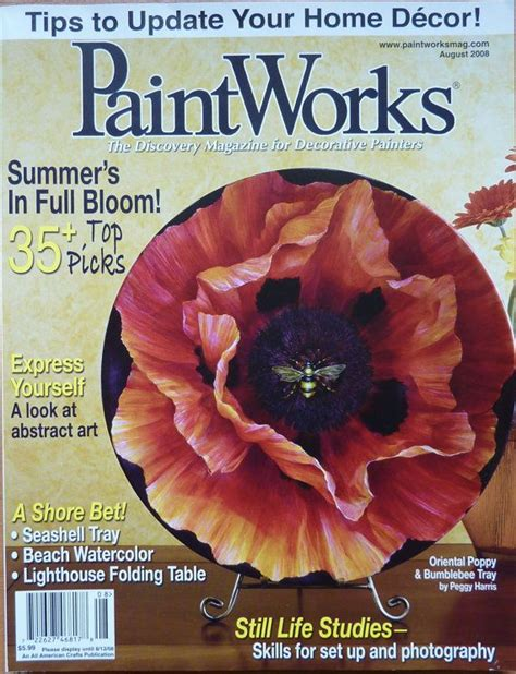 Decorative Painting Magazines by Paintworks Magazine August 2008 Assorted Tole Painting