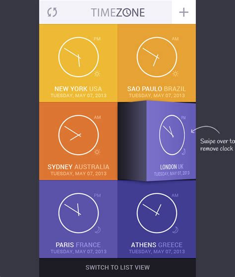 zone app time zone app concept on behance
