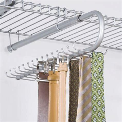 Rubbermaid Tie And Belt Rack by Rubbermaid Configurations Custom Closet Add On