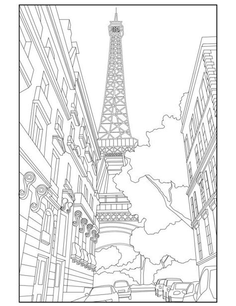 coloring pages for adults travel 45 best paris colouring and doodling journal images on