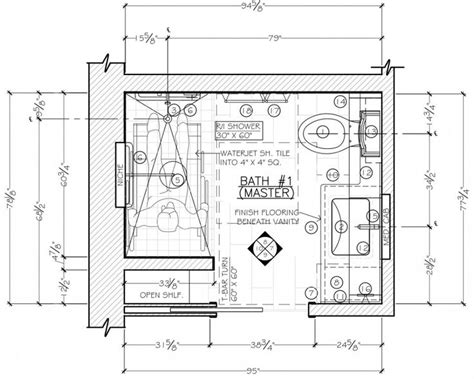 drawing bathroom floor plans 11 best construction document floor plans images on