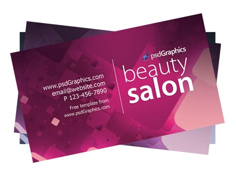 Salon Business Cards Templates Free salon business card template psdgraphics