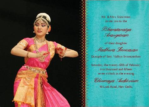 61 Best Images About Arangetram Invitations On Pinterest Scallops Dancers And Products Arangetram Invitation Templates