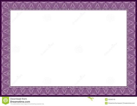 Purple Certificate Template new 2015 purple certificate diploma frame stock vector