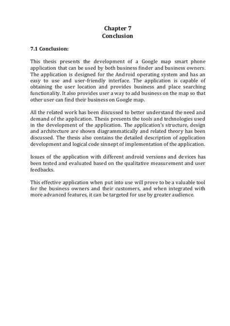 Conclusion On Thesis by Dissertation Thesis Conclusion