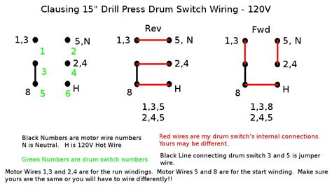 reversing drum switch wiring diagram clausing drill press reassembly a devoted to my