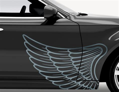 Autoaufkleber Set by Autoaufkleber Angel Wings Set