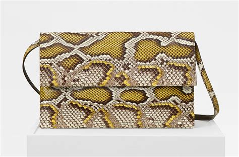 Found A Perfectly Chic Python Leather Clutch by C 233 Line S Fall 2017 Accessories Include Some Gorgeous New