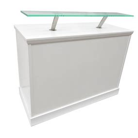 Reception Desk Hire White Reception Desk With Perspex Shelf Event Hire Uk