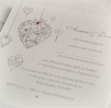Uk Wedding Invitations by Hearts Personalised Wedding Invitations By Beautiful Day