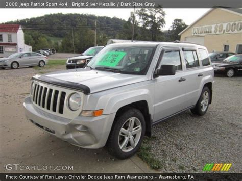 Jeep Patriot Silver Bright Silver Metallic 2008 Jeep Patriot Sport 4x4