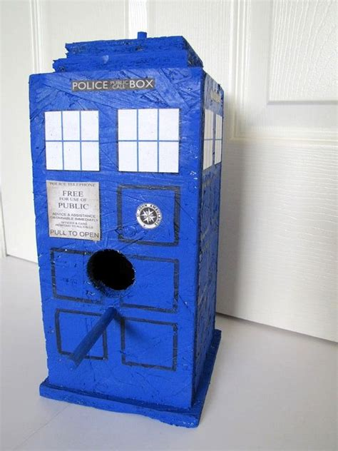 house doctor interior steunk no d38 dr who tardis bird house yard art or