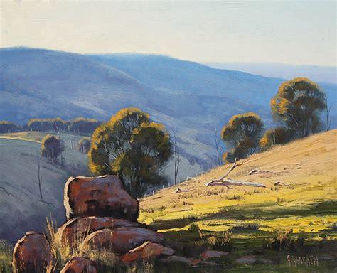 Landscape Paintings Australia Australian Landscape Painting By Artsaus On Deviantart