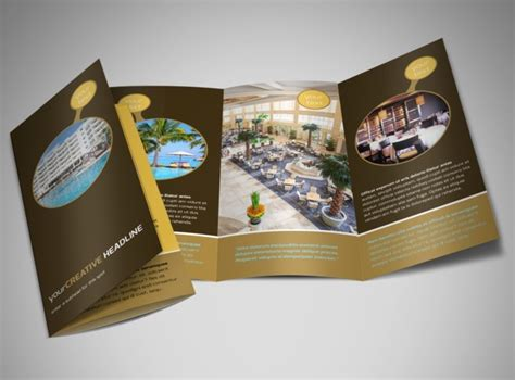 Hotel Brochure Design Templates by Luxury Hotel Brochure Template Mycreativeshop