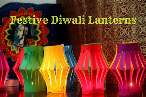 How To Make Diwali Paper Lanterns - jaya s place diwali crafting easy diy paper lanterns diyas