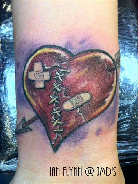 broken heart tattoo designs broken by ian flynn ink broken