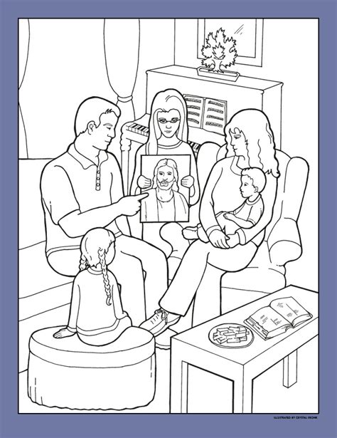 lds coloring pages heavenly father happy clean living primary 2 lesson 1