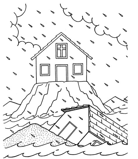 Wise Foolish Coloring Page free coloring pages of wise and foolish