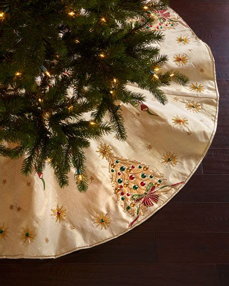 elegant christmas tree skirts seybert retro tree skirt