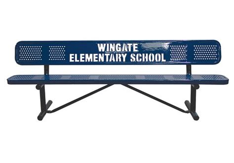 logo bench 10 custom perforated logo bench commercial site furnishings