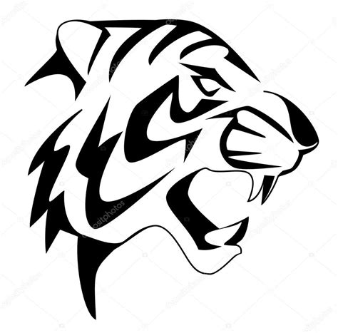 tiger face stock vector 169 premiumdesign 12412437