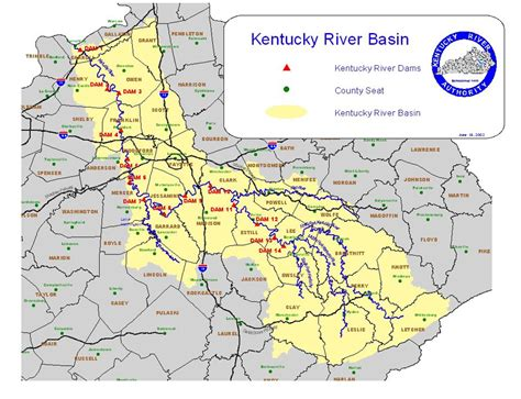 kentucky map with rivers kentucky river authority