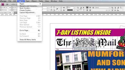 newspaper layout basics indesign newspaper tutorial