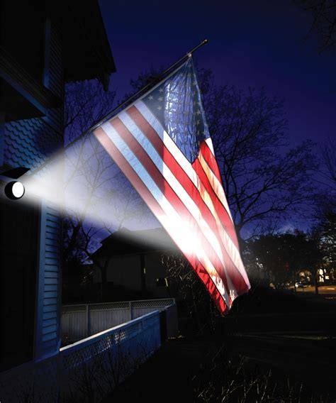 flag solar light solar powered led flag light