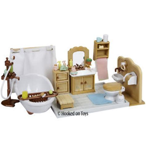 calico critters deluxe bathroom furniture set cc2480