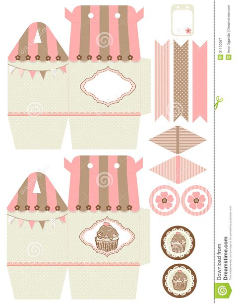 7 best images of cupcake box printable template cupcakes