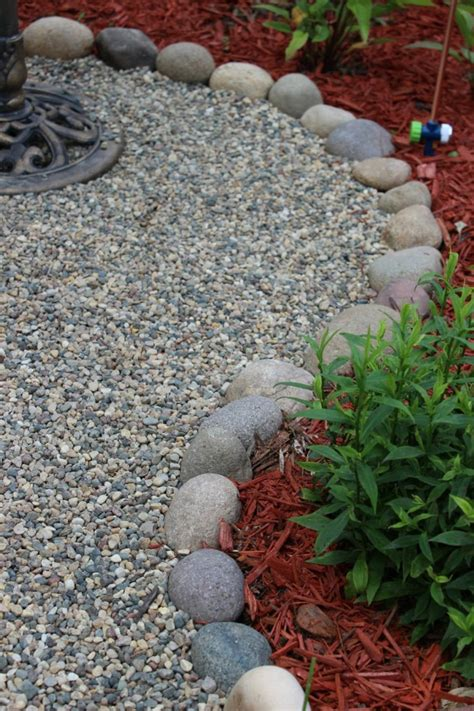 pebbles for backyard garden with gravel is a nice solution for outdoor use
