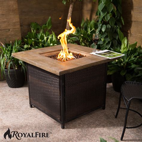 outdoor garden firepit royal square pit gas