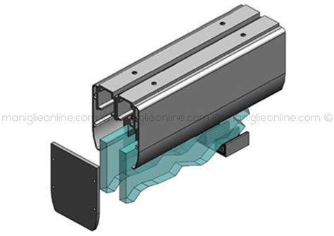 binario per ante scorrevoli a soffitto sistema scorrevole per vetro 2 ante sovrapposte con kit