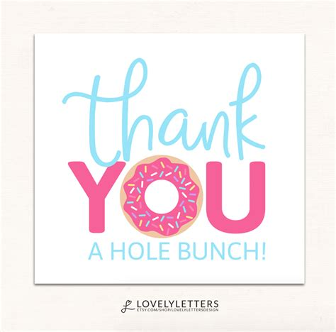 free thank you card templates donut thank you a quot quot bunch donut thank you card designed