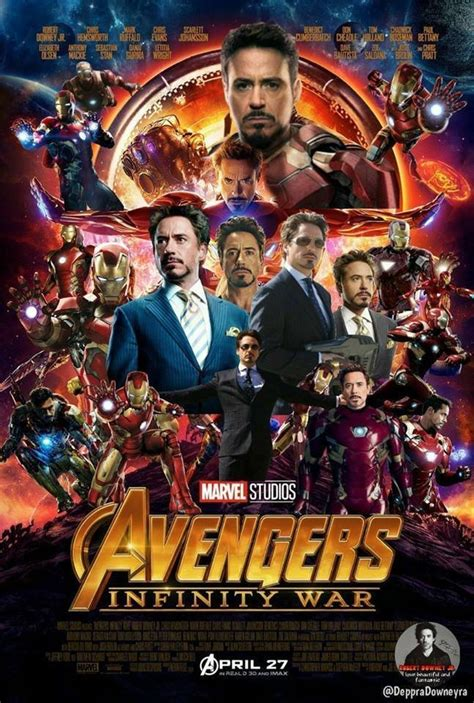 Plakat Infinity War by Infinity War Robert Downey Jr Shares All