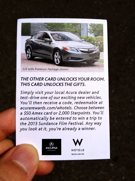 Acura Test Drive Gift Card - update on the free 2 000 starpoints or 50 amex gift card via acura rewards frugal