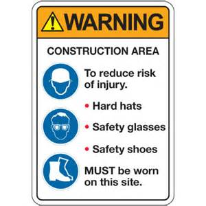 ansi z535 safety signs warning construction area safety