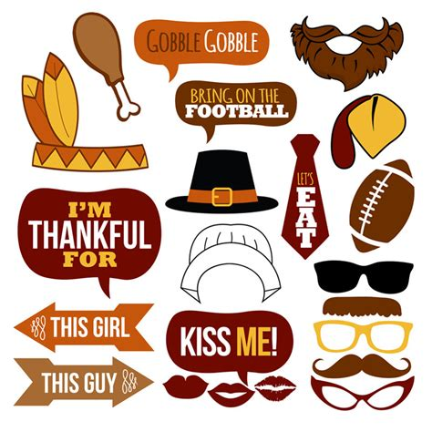 printable photo booth props thanksgiving thanksgiving photo booth props collectionprintable instant