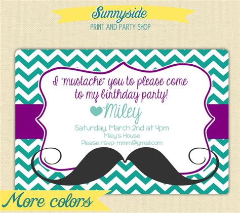 Come With Me Birthday Invite by Girly Mustache You To Come To My Birthday Birthday