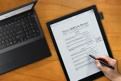 best e ink tablet make notes while reading your e book with the sony e ink