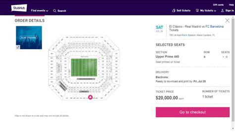 entradas price real madrid barcelona miami tickets resale prices