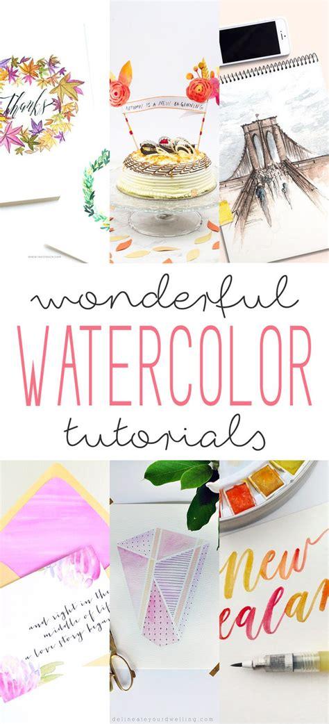 tutorial illustrator watercolor wonderful watercolor tutorials the cottage market
