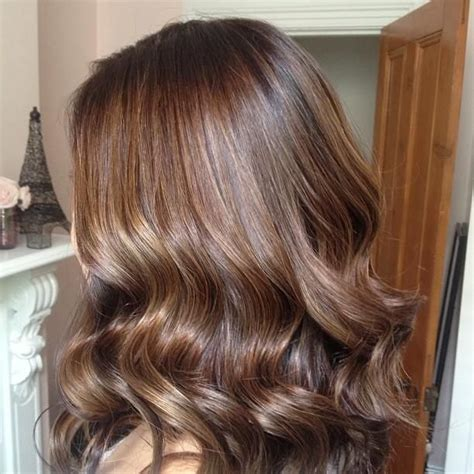 medium golden mahogany brown lowlights red to chocolate brown with golden brown highlights