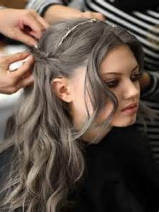 going gray from light golden brown hair with highlights grey hair color trends 2016