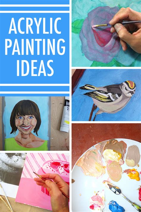 how to get acrylic paint on canvas beat artist s block with these 8 acrylic painting ideas
