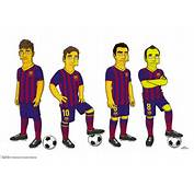 Toon Idols Messi Neymar And Co Follow Chelsea In Being Simpsonized